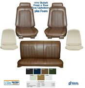 1970 Skylark Convertible Bucket And Rear Seat Upholstery + Foam Any Color