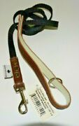 New Buddy Belts Leash Accent Leather And Nylon Dog Puppy Lead 1/2' X 4 Espresso