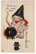 Halloween Postcard. Raphael Tuck And Sons, Series 807. Campbell Kids Series.