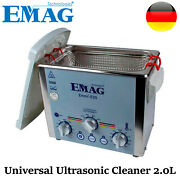 Emag Ultrasonic Cleaner Solution Bath Clean Parts Instrument Jewelry Dental 2.0l