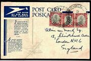 South Africa Card Radio Exhibition Relevant Message Air Mail 1935 Postcard T277a