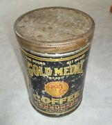 Vintage Coffee Tin Gold Medal Consumers Sanitary Coffee Butter Stores Chicago