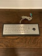 Vintage Devlin Stainless Steel Keyboard P/s2 Connections W/ Trackball Enclosure
