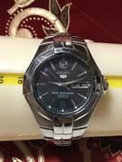 Seiko 5 Automatic 23 Jewels Menand039s 7s26-02j0 Black Dial Day-date Wr 5 Bar Steel