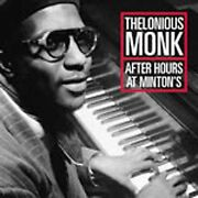 After Hours At Mintonand039s By Thelonious Monk Cd Oct-2001 Definitive Classics