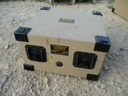 Used Aluminum Hard Transit Case Tan Lockable For Military Items 19x18x12 Appr