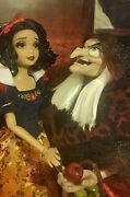 Disney Store Fairytale Designer Doll Snow White And Old Witch Hag Le 1620 In Hand