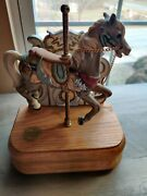 Vtg The American Carousel By Tobin Fraley Signed Horse W/ Music Box 629/8500
