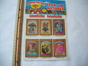 1985 Garbage Pail Kids Stick-on Pictures Puffy Stickers Imperial Toy Un-opened