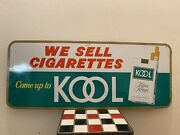 Kool Filter Kings We Sell Cigarettes Come Up To Kool Sst Sign 1975 12andrdquox30andrdquo