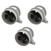 3x 12v 4a In-line Blower Boat Quiet Bilge Blower Water Resistant White
