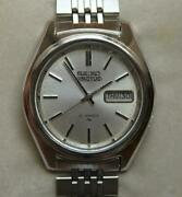 Seiko Actus 7019-7060 Menand039s Automatic White Dayanddate 21jewels Ss Japan Used
