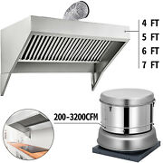 4and039 5and039 6and039 7and039 Food Truck/trailer Concession Hood Roof Hood Exhaust Fan 200-3200cfm