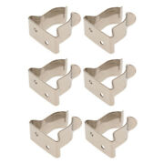 6x 304 Stainless Steel Marine Yacht Paddle Snap Hook Holder Clips Organizer
