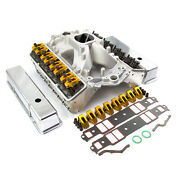 Chevy Sbc 350 Angle Plug Solid Roller Cnc Cylinder Head Top End Engine Combo Kit