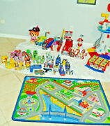 Paw Patrol Mixed Lot My Size Lookout Rare Robodog Vehicles And Figures Tracker