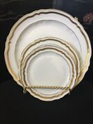 7 Pc Marie Antoinette A. Raynaud Ceralene Limoges Dinner, Salad, Bread And Butter