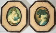 Small Antique Oil Painting Decorative Portraits Framed Reproductions Germany