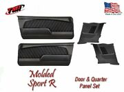 1967 - 68 Mustang Molded Sport R Door And Quarter Panel Set - Your Choice Of Stitc