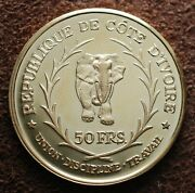 1966 Cote Dand039ivoire Proof Gold Proof Boigny President