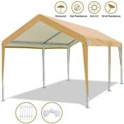 10and039x20and039 Heavy Duty Carport Car Canopy Garage Boat Shelter 4 Adjustable Heights