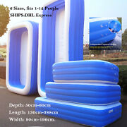 Inflatable Swimming Pool Garden Outdoor Family Kiddie Pools Swim Center, 6 Size
