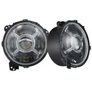 For Jeep Jl 9in Adjustable Angle Beam 108-watt Headlight W X-halo Drl Functions