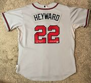 Jason Heyward Game Used Auto Braves Rookie Jersey - Possible 1st Playoff Jersey