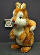 Vtg Large Wind Up Toy Chippy Chipmunk Squirrel Tin Eyes And Nose - Maker Unknown