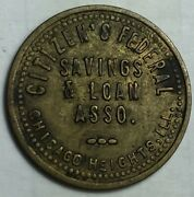 Chicago Heights. Illinois Citizenandrsquos Federal Savings And Loan Parking Check Token