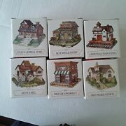 Nib Lot Of 6 Buildings Liberty Falls The Americana Collection Hand Painted E4