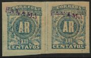 Stamps-panama. 1903 10c Ar H/stamp Panama In Violet. 2nd Colon Issue Sg Ar92b