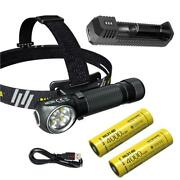Combo Nitecore Hc35 Rechargeable Headlamp +2x Nl2140 Batteries And Ui1 Usb Charger