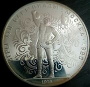 10 Rubles Weight Lifting 1979 Proof 1oz Silver