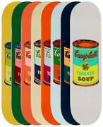 Andy Warhol Skateboard Colored Campbelland039s Soup Cans Art Print Complete Set Of 8