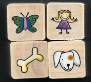 Butterfly Girl Dog Bone Puppy Nature Life Gift Tag New Mini Lot Rubber Stamps