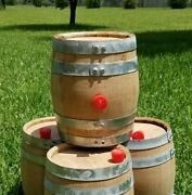 4 Pack New 5 Liter Bourbon Whiskey Barrels -thick American Oak Wood Staves Char3
