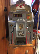 Jennings Silver Chief 5 Cent Slot Machine Original Condition And Works