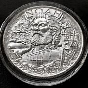Noahand039s Ark - Two By Two 1 Oz .999 Silver Bu Round Bullion God Bible Round Coin