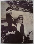 Bonnie And Clyde Personality Movie Poster 32x42 1967 Faye Dunaway Linen Rare