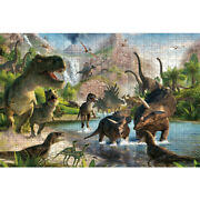 Wooden Jigsaw Puzzles 500 Pcs Epic Dragons Dinosaurs Cartoon Toy Painting Decor
