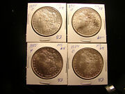 1880 18841885 O 1885 P Morgan Silver Dollars 4 Coins As Pictured.