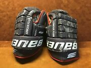 Vintage Bauer Armour Foam Detroit Vipers Game Used Hockey Gloves
