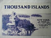 Original Vintage 1919 Thousand Islands New York And Canada Hallam And Vestry