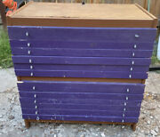 N Scale Custom Storage Case Cabinet Drawer 358 Padded Slot Rolling Stock Engine
