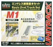 Kato 20-852 Unitrack Basic Oval Track Set With Power Pack Master 1 M1 N Scale