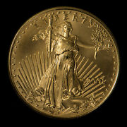 2001 25 1/2 Oz Gold American Eagle Bu Coin Better Low Mintage - G1058