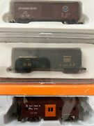 N Scale Concor Sp Southern Pacific Runner Pack Lot 3 Boxcar Bay Window Caboose