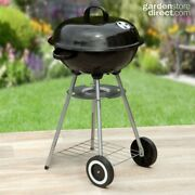 Kettle Bbq Charcoal Barbecue Outdoor Portable With 2 Wheels Fast Free Delivery
