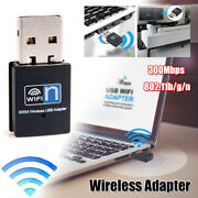 2.4ghz Usb Wifi Adapter Wireless Network Internet Dongle Windows Up To 300mbps